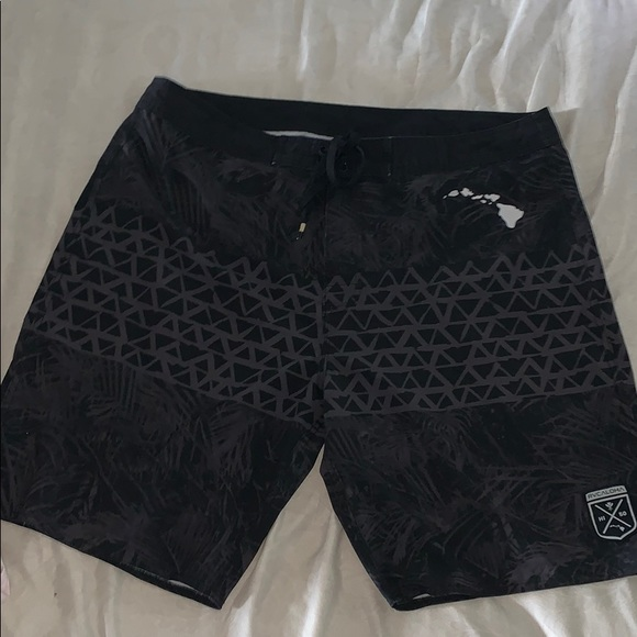 0b71fa23d5 RVCA Mens Black Boardshorts Shorts Swim 38. M_5c66153a12cd4a602f779c96